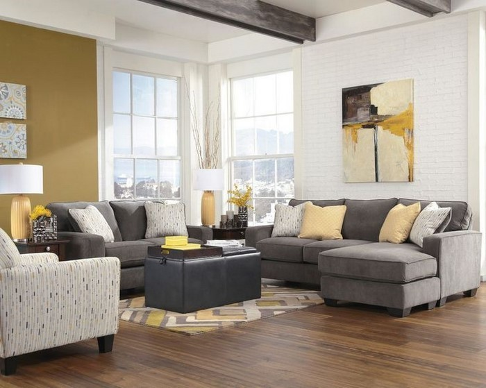 100 verblüffende wohnzimmer ideen mit gelb - Wohnzimmer Grau Gelb