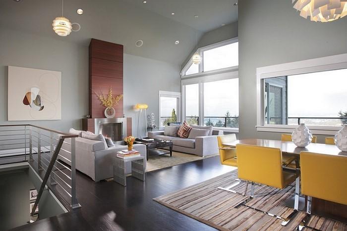 Wohnzimmer-Ideen-mit-Gelb-Eine-außergewöhnliche-Deko
