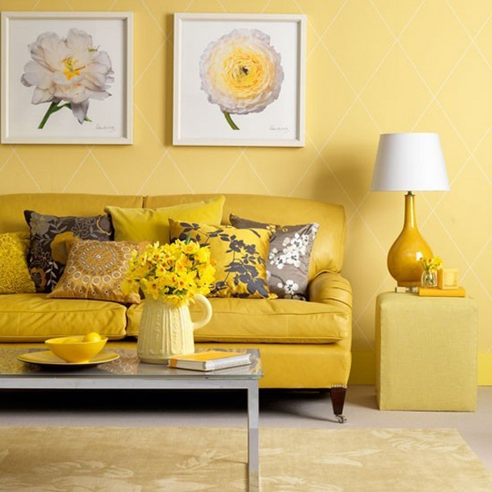 Wohnzimmer-Ideen-mit-Gelb-Eine-auffällige-еinrichtung