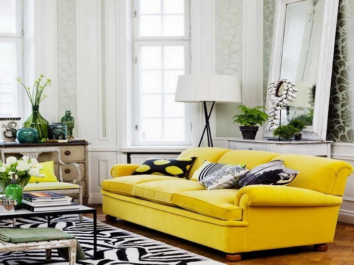 Wohnzimmer-Ideen-mit-Gelb-Eine-auffällige-Atmosphäre