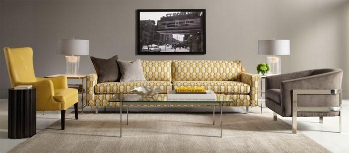 Wohnzimmer-Ideen-mit-Gelb-Eine-auffällige-Ausstrahlung