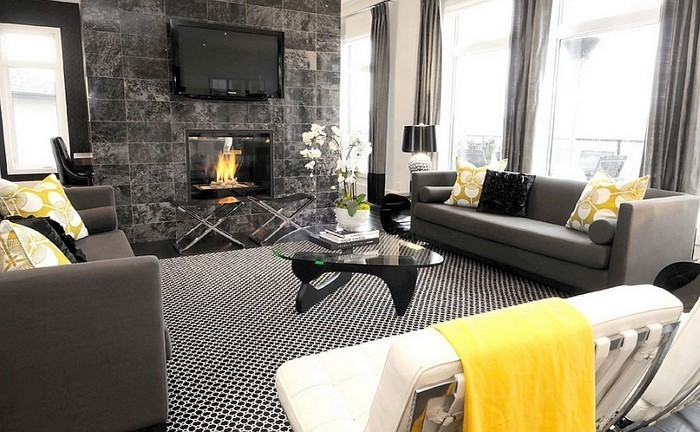 Wohnzimmer ideen  100 verblüffende Wohnzimmer Ideen mit Gelb
