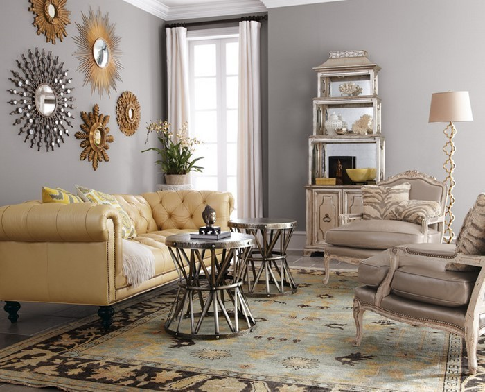 Wohnzimmer-Ideen-mit-Gelb-Eine-auffällige-Gestaltung