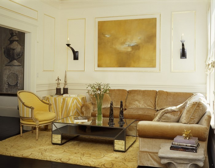 coole wohnzimmer ideen:Wohnideen Wohnzimmer in Gelb:Ein wunderschönes Interieur