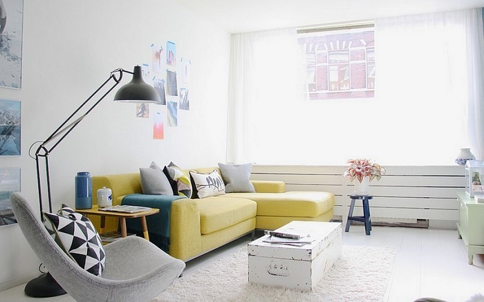 Wohnzimmer-Ideen-mit-Gelb-Eine-coole-Dekoration