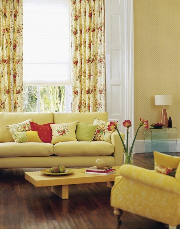 Wohnzimmer-Ideen-mit-Gelb-Eine-coole-Entscheidung