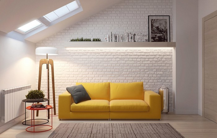 Wohnzimmer-Ideen-mit-Gelb-Eine-kreative-Deko