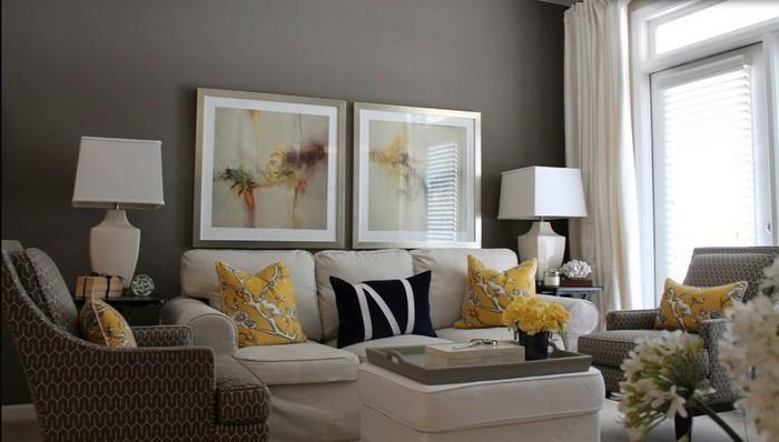 Wohnzimmer-Ideen-mit-Gelb-Eine-kreative-Dekoration