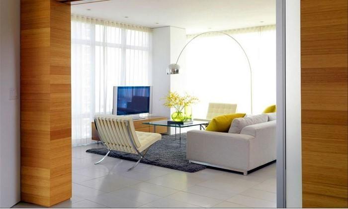 Wohnzimmer-Ideen-mit-Gelb-Eine-moderne-Ausstattung