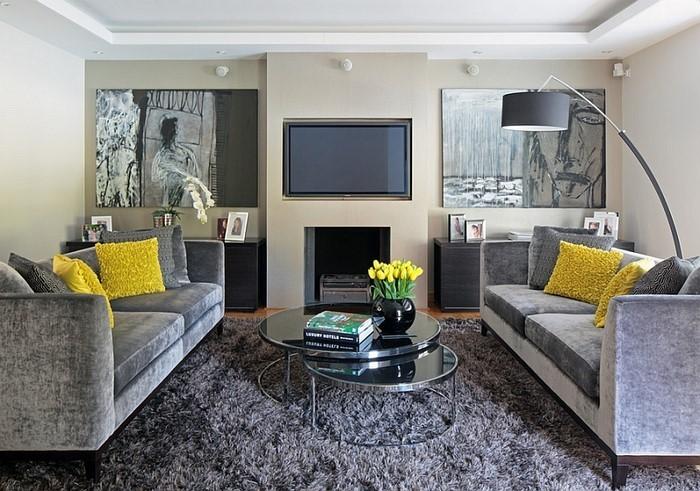 Wohnzimmer-Ideen-mit-Gelb-Eine-moderne-Ausstrahlung