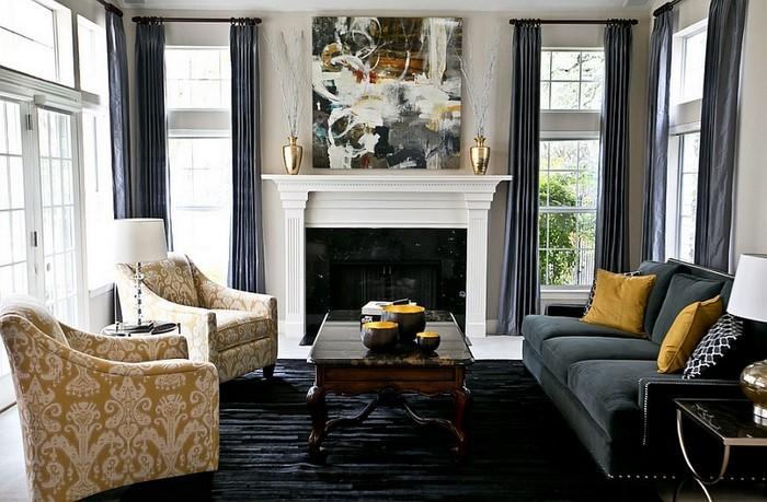 Wohnzimmer-Ideen-mit-Gelb-Eine-moderne-Dekoration