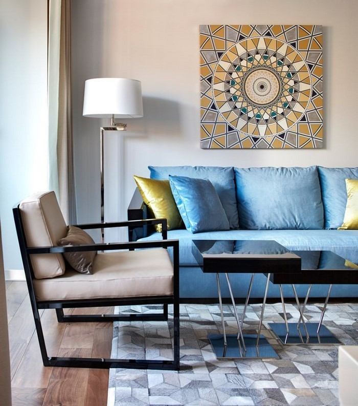 Wohnzimmer-Ideen-mit-Gelb-Eine-super-Ausstrahlung
