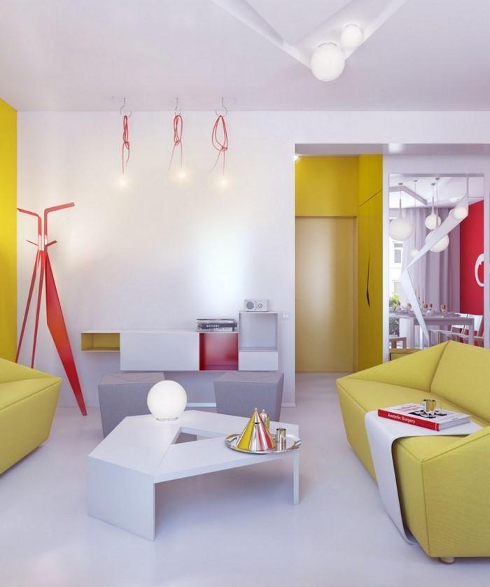 Wohnzimmer-Ideen-mit-Gelb-Eine-super-Deko