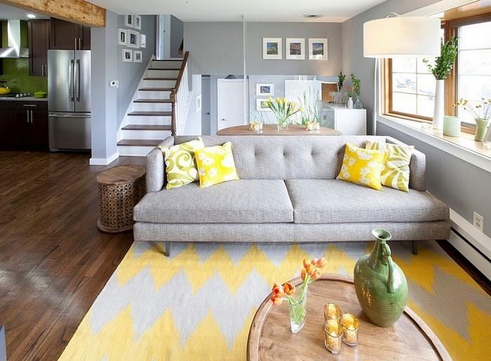 100 Verblüffende Wohnzimmer Ideen Mit Gelb ...
