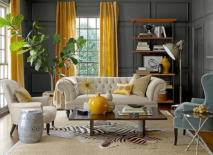 Wohnzimmer-Ideen-mit-Gelb-Eine-tolle-Atmosphäre