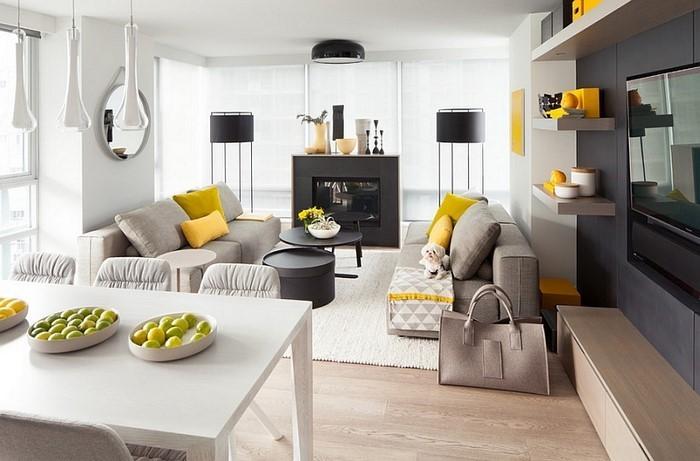 Wohnzimmer Ideen Mit Gelb Eine Tolle Deko