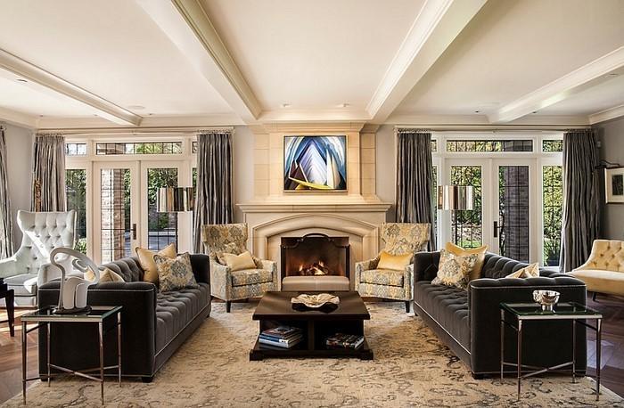 Wohnzimmer-Ideen-mit-Gelb-Eine-tolle-Dekoration