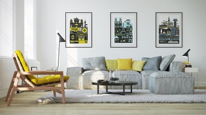 Wohnzimmer-Ideen-mit-Gelb-Eine-tolle-Entscheidung