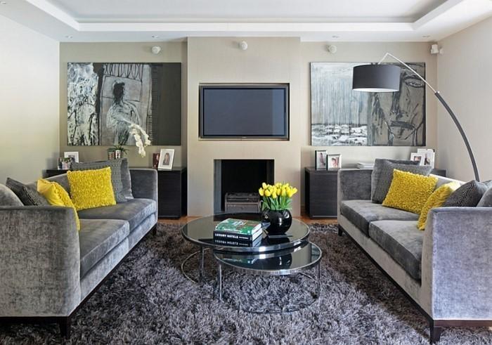Wohnzimmer-Ideen-mit-Gelb-Eine-wunderschöne-Atmosphäre