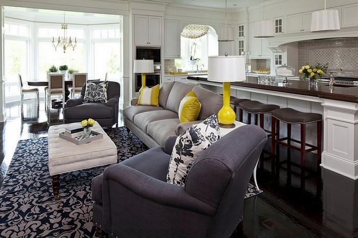 Wohnzimmer-Ideen-mit-Gelb-Eine-wunderschöne-Dekoration