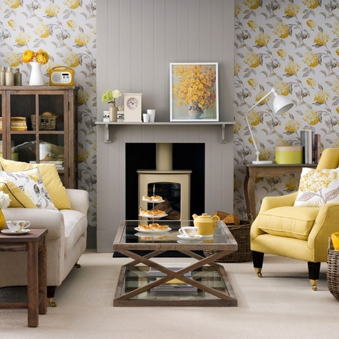 Wohnzimmer-Ideen-mit-Gelb-Eine-wunderschöne-Gestaltung