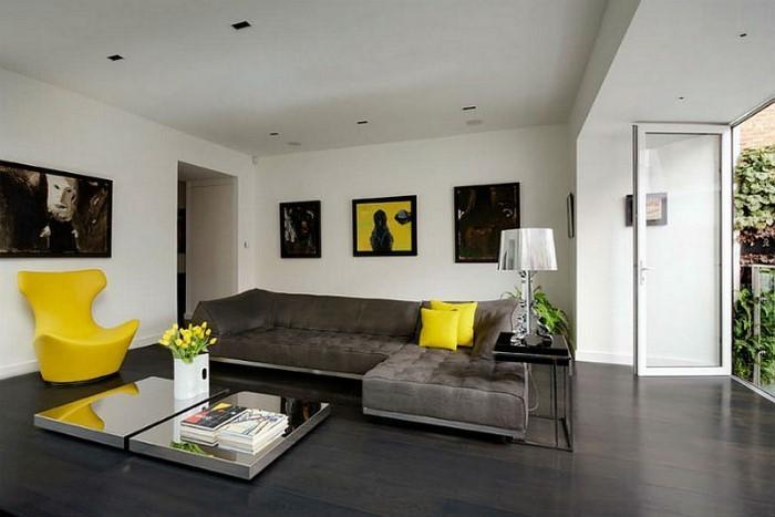 Wohnzimmer Grau Gelb Digrit For