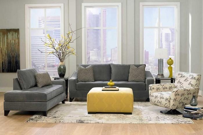 Wohnzimmer-Ideen-mit-Gelb-coole-Gestaltung