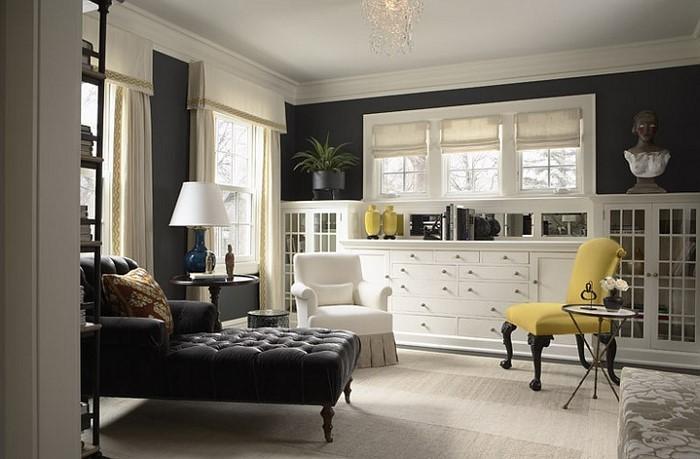 Wohnzimmer-Ideen-mit-Gelb-kreative-Entscheidung