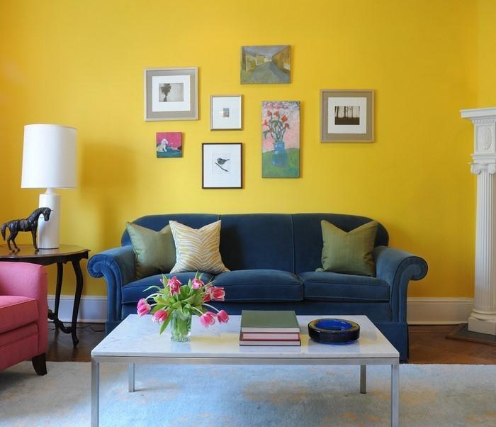 Wohnzimmer-Ideen-mit-Gelb-kreative-Gestaltung
