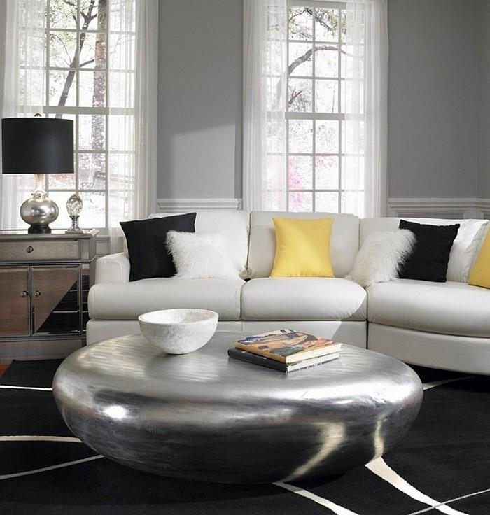 Wohnzimmer-Ideen-mit-Gelb-kreatives-Design