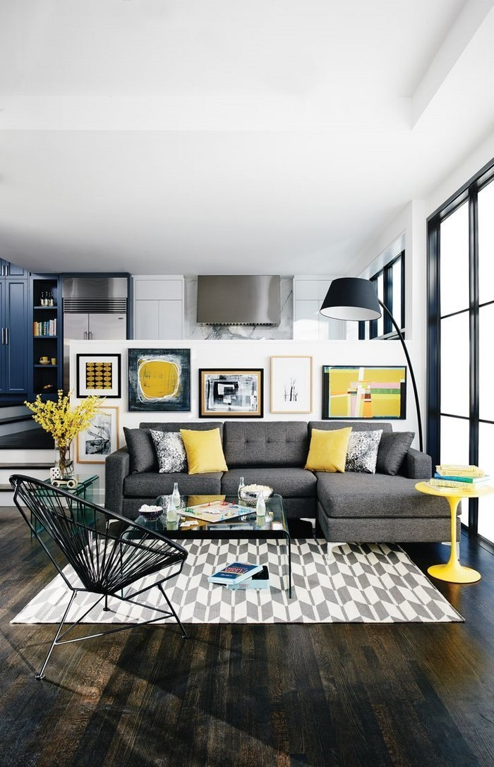 Wohnzimmer-Ideen-mit-Gelb-moderne-Entscheidung