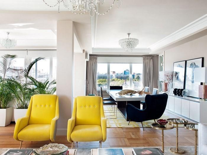 Wohnzimmer-Ideen-mit-Gelb-tolle-Gestaltung