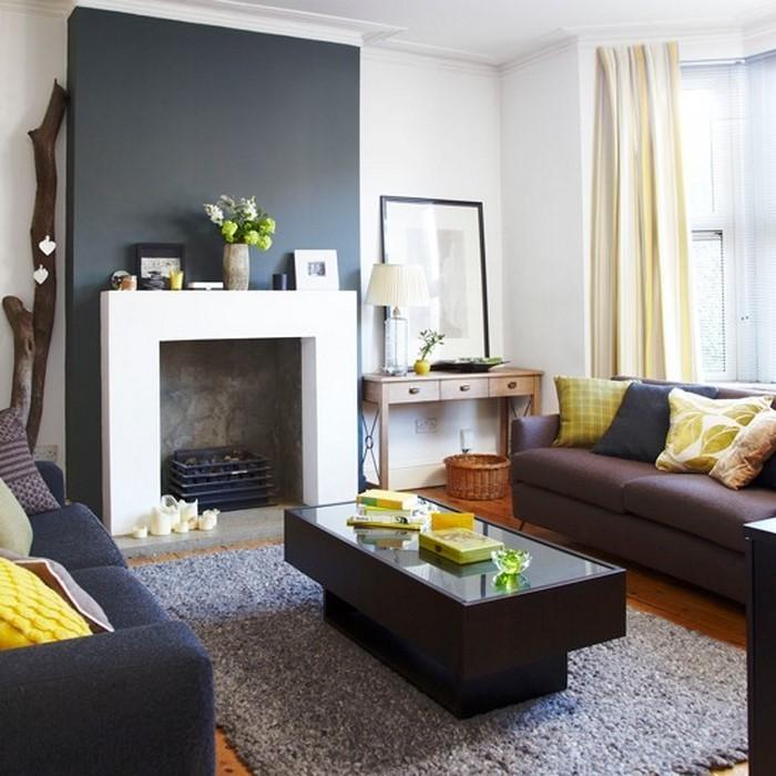 Wohnzimmer-Ideen-mit-Gelb-wunderschöne-Gestaltung