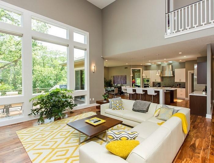 Wohnzimmer-Ideen-mit-Gelb-wunderschönes-Design