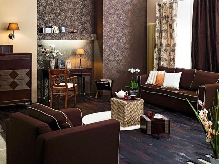 Wohnzimmer In Braun Ein Verblffendes Design