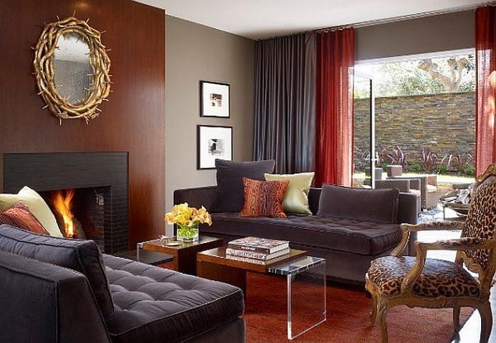 Wohnzimmer-in-braun-Ein-verblüffendes-Interieur