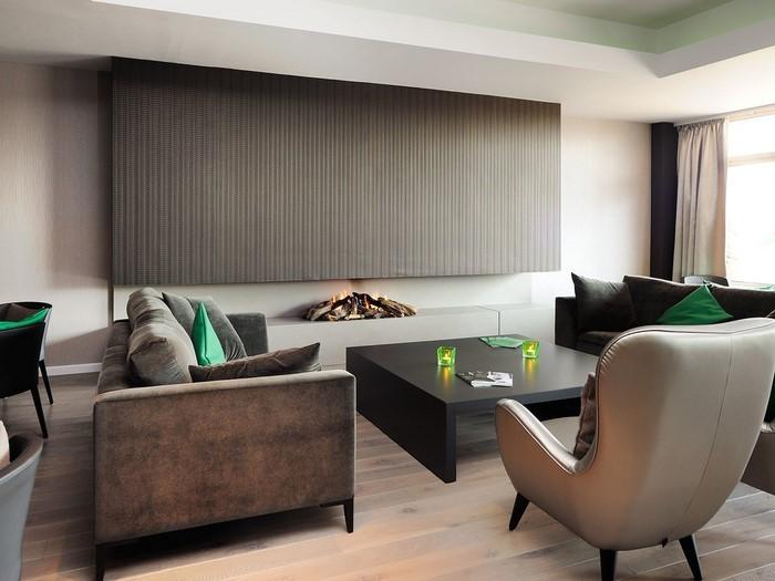 Wohnzimmer-in-braun-Eine-auffällige-Ausstrahlung