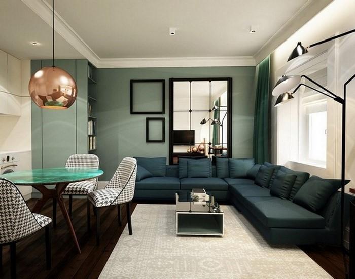 Design : Wohnzimmer Petrol Braun ~ Inspirierende Bilder Von, Modern Dekoo