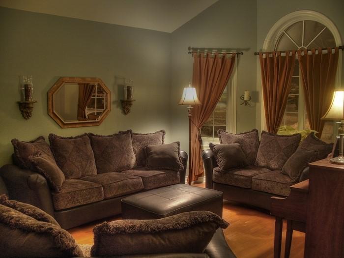 wohnzimmer blau braun:wohnzimmer gestalten braun : Wohnzimmer in braun 50 tolle Wohnideen
