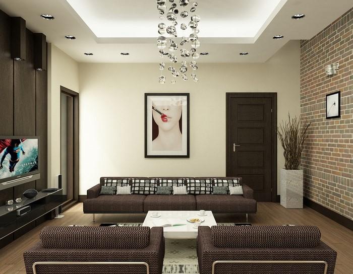 wohnzimmer orange braun:Wohnzimmer in braun: 50 tolle Wohnideen für das Wohnzimmer