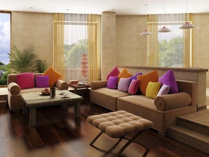 Wohnzimmer-in-braun-Eine-super-Entscheidung