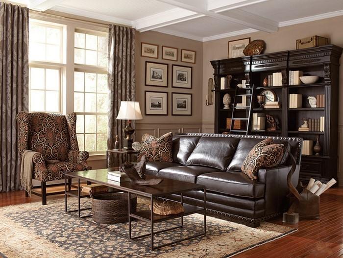 Wohnzimmer-in-braun-Eine-tolle-Ausstrahlung