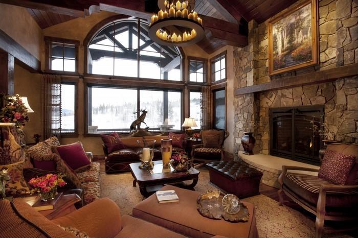 Wohnzimmer-in-braun-Eine-verblüffende-Ausstattung
