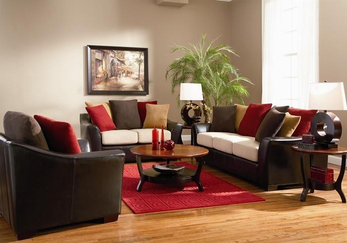 Wohnzimmer-in-braun-Eine-verblüffende-Gestaltung