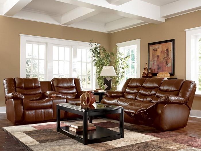 Wohnzimmer-in-braun-Eine-wunderschöne-Ausstattung