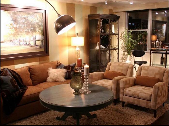 Wohnzimmer einrichten brauntöne  Wohnzimmer Braun: tolle Wohnideen für das Wohnzimmer
