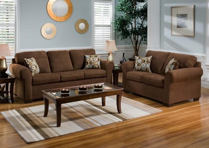 Wohnzimmer gestalten grau braun ~ Dayoop.com