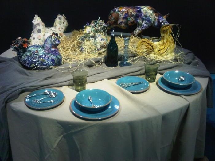 außergewöhnliche-Tischdeko-mit-Figuren-von-Tieren
