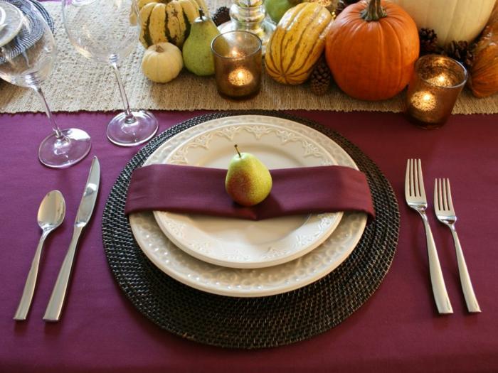 außergewöhnliche-Tischdeko-mit-Früchte-aus-Herbst