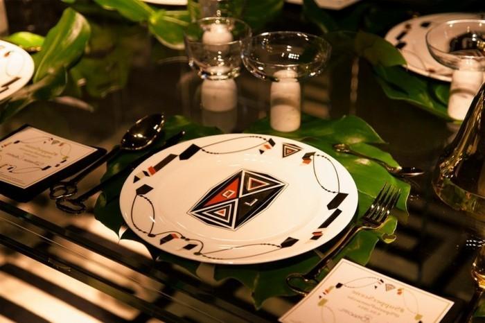 außergewöhnliche-Tischdeko-mit-einmaligem-Muster
